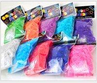 rubber band rainbow loom - 240pcs Best Selling Rainbow Loom Kit DIY Wrist Bands rubber band Rainbow Loom Bracelet for kids bands C clips Colors