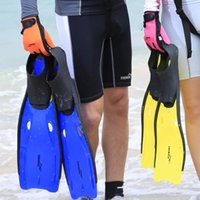 adjustable swim fins - THENICE adjustable adult submersible long fins Swimming Snorkel diving Fins fcs Snorkeling Flipper Submersible