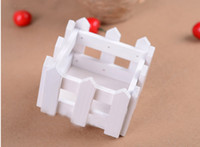 wooden fence - 2015 NEW cm White Wood Fence Wooden Flower Planter Home Decoration Dedicated Pots for artificial flowers
