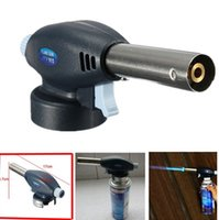 Wholesale 1PC Gas Torch Flamethrower Butane Burner Auto Ignition Camping Welding BBQ Outdoor FG14016