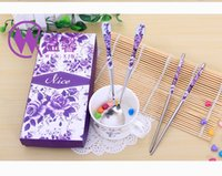 Wholesale East Meets West Stainless steel chopsticks Chinese style wedding Wedding Function favors gifts DHL FEDEX