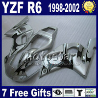 body kit - bodywork fairings for YAMAHA YZF R6 YZF YZF R6 black silver fairing body kits GG2 gifts