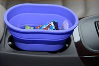 Wholesale storage for cars High Quality Food Level and Eco Friendly Odorless NoToxic Car Silicone Non slip Foldable Garbage Can Color Diversity
