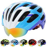 Wholesale Bicycle Helmet Newest Mountain Road MTB Cycling Helmet Air Vents Goggles Helmet With Pair Lens CM