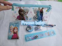 Wholesale Kids learning items Frozen stationery set for Students children stationery Frozen Pencil Cases Frozen Bags Frozen Ruler Frozen Pencils