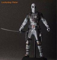 american doll kit - X Men Deadpool Action Figure American Film Ver White Deadpool Doll PVC ACGN figure Garage Kit Toy Brinquedos CM