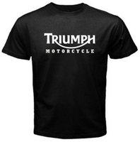basic motorcycle - New Men s T Shirt TRIUMPH MOTORCYCLE Classic Logo Race Black Basic Tee Fashion Printed Cotton Short Sleeve Shirts