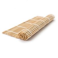 Wholesale Sushi Rolling Maker Bamboo Material Roller DIY Mat And A Rice Paddle Mats CM HF294