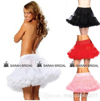 accessories skirts - 2015 Cheap Mini Short Petticoats Color Underskirt for Prom Party Cocktail Wedding Pink Red Black White Skirt Bridal Accessories Christmas