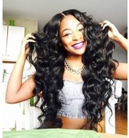 human hair wigs for black women - DHL Indian Virgin Hair Body Wave Full Lace Human Hair Wigs For Black Women Indian Lace Front Wigs