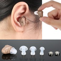 Wholesale Ear Health Care Mini In Ear Sound Amplifier Digital Hearing Aid With Carriage Case Kit With Button Batteries Earplugs W1950