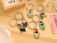 Wholesale The emperor s new clothes Keychain delicate and lovely metal key ring pendant
