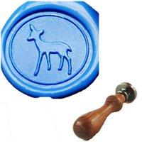 baby deer picture - Vintage Cute Baby Deer Custom Picture Logo Wedding Invitation Wax Seal Stamp Set