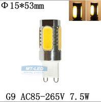 High Power SMD COB 7.5W AC220V G9 Lampe LED Remplacer lampe halogène 60W garantie de la lampe d'ampoule 360 Angle LED 2 ans