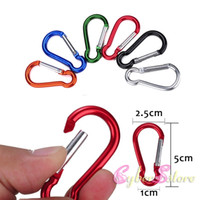 backpack clips - Colorful Aluminium Portable Hook Pothook Hanger Bag Han Backpack kettle Buckle Keychain KeyRing Outside Hiking Camping Lock Camp Clip