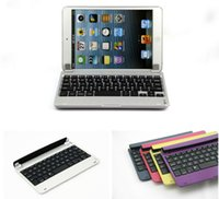 360 keyboard case - Magnetic Aluminum Case Cover Bluetooth Keyboard Dock Swivel Rotating Stand for Apple iPad mini pc