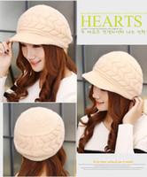 Wholesale New women s hats hats winter hats Beanies knitwear for women rabbit fur hat Autumn and winter women Skullies Fashion