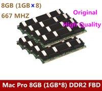 Wholesale 8PCS Original MACPRO Memory Mac Pro DDR2 FB Dimm GB GBx8 DDR2 PC2 ECC DDR2 w pple order lt no tra