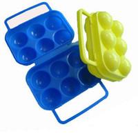 Wholesale Outdoor camping picnic egg cartons egg folder picnic supplies portable plastic egg cartons egg tray