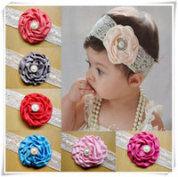 baby bites - Girls Hair Accessories large rose lace headband plus drill bit baby Hairband children infant baby hair accessories baby