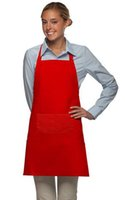 bibs for adults - 2016 Advertised High Quality Plain Apron with Front Pocket Bib Kitchen Cooking Craft Baking Art for Adult