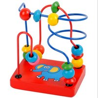 Wholesale Funny Baby Game Toy baby kids Educational Baby Kids Wooden Around Beads Toddler Infant Developmental Toys Gift