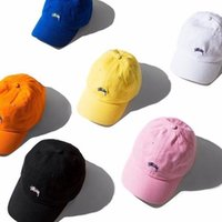 Wholesale New Stussy Hat Cap Baseball Golf Ball Sport Casual Sun Cap unisex street fashion BlacK Pink White