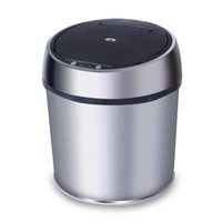 trash can - Homeleader HL Sensor Dustbin Induction Trash Can Automatic Touchless Stainless Steel Trash Can Liter silver
