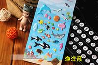Wholesale Korea Funny Stickers Sponge Bubble Stickers Ocean Forest Ancient Series PVC Decorative Stickers DIY Stickers