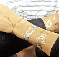 Wholesale New Gold Silver and Black Flash Inspired Metallic Jewelry Christmas Gifts Temporary Tattoos
