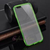 al por mayor iphone 4s cubierta contra el polvo-Para el iphone 6 6plus cristal claro transparente TPU Bumper cubierta del estuche rígido de polvo anti enchufable para iPhone6 4 4S 5 5s