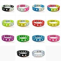 Wholesale New colors cm or cm Jibbitz Bracelet for shoe charms silicone bracelets wristbands charms bracelets party gifts