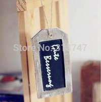 Wholesale 4 cm Small Wooden Tag Wooden Single Face Blackboards Pendant Craft Ornaments