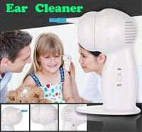 Wholesale 500pcs Ear Care Supply WAXVAC Wax Vac Deluxe Model Ear Cleaner CORDLESS Safe Clean Dry Ears Retail Package
