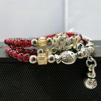 bell charm - Charm Bracelets for Women Sale Acrylic Crystal Rhinestone Bell Bracelet New Arrival Elastic Long Beaded Bracelet