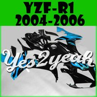 Wholesale Yes2yeah Injection Mold Fairing For Yamaha YZFR1 YZF R1 YZF R1 Body Kit Black Cyan Flames Y14Y19 Free Gifts