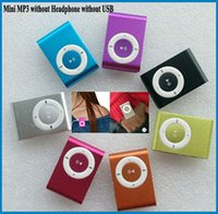 Wholesale gift MINI clip MP3 Player with Micro SD card Slot with sports mini MP3 Only mp3 Without Headset without USB