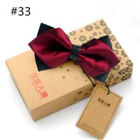 Wholesale 27 Styles Hot Sale Slim Bow Tie Mens Butterfly Cravat Bowtie Male Solid Color Marriage Bow Ties for Men Blusa Feminina