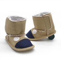 Wholesale New arrival Baby Girls Boys Winter Shoes Infant Toddler Warm Soft Soled Snow Boots Prewalker