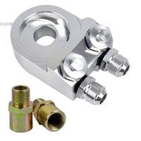 Wholesale New arrival Universal Aluminum Oil Cooler Filter Plate Adaptor AN10 Silver