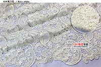 beautiful dress fabrics - Cheap High Quality Water Soluble Lace Fabric Hollow Three Dimensional Dress Fabric Dress Accessories Beautiful