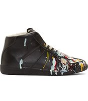 Wholesale Maison Martin Margiela ink graffiti casual high top shoes men s shoes custom