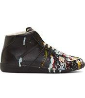 b ink - Maison Martin Margiela ink graffiti casual high top shoes men s shoes custom
