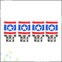 america bear - Newest Captain America Style Ceramic Drip Tips Wide Bore Drip Tip for EGO RDA Hot Selling DHL Free