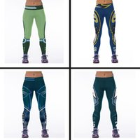Wholesale New Sexy Gym Sports Leggings Fitness Workout Trousers Star Printing Running Sport Pants Elasticity leggings Printed pants