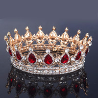 pageant crowns - 2016 New Fashion Bridal Accessories Wedding Hair Tiara King Crown Rhinestone Full Round Pageant Crowns Tocados De Novia Tiaras For Formal