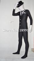 Precio de Trajes de cuerpo de spandex al por mayor-traje blanco de una Pieza Nueva Hip-hop Lycra Spandex Zentai Catsuit del traje unisex mayor-Negro y