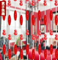 Wholesale can be customized of gourd and olive shape crystal curtain