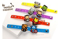 Wholesale kids Cartoon Silicone Bracelets with shoe charms The Avengers Minions My little Pony Elsa Kitty bracelets Christmas gifts for children