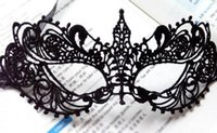 Wholesale 1 x Beautiful lady Black Lace Floral Eye Mask Venetian Masquerade Fancy Party Dress Accessories